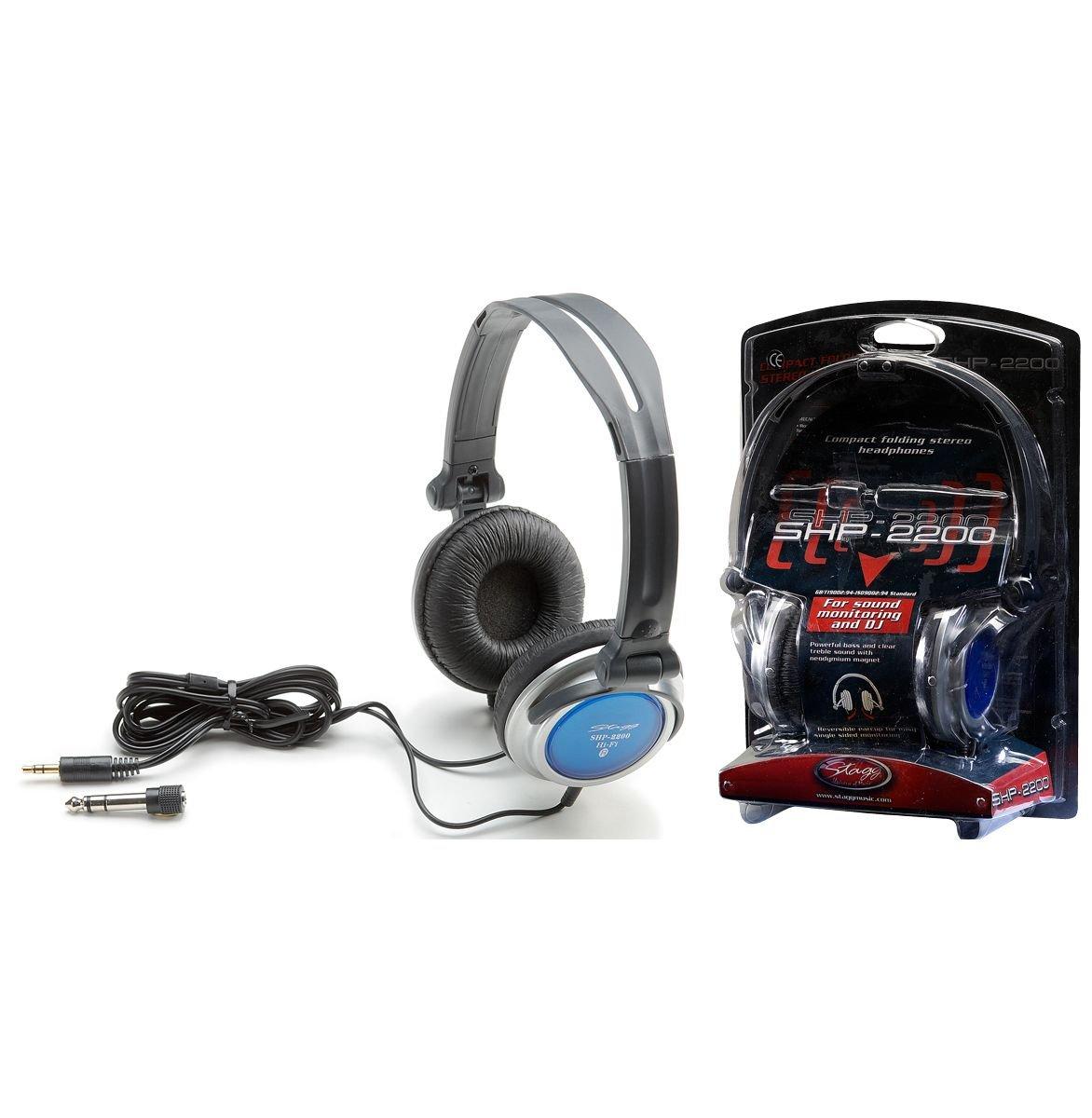 Stagg SHP 2200 H - słuchawki składane, DJ-skie
