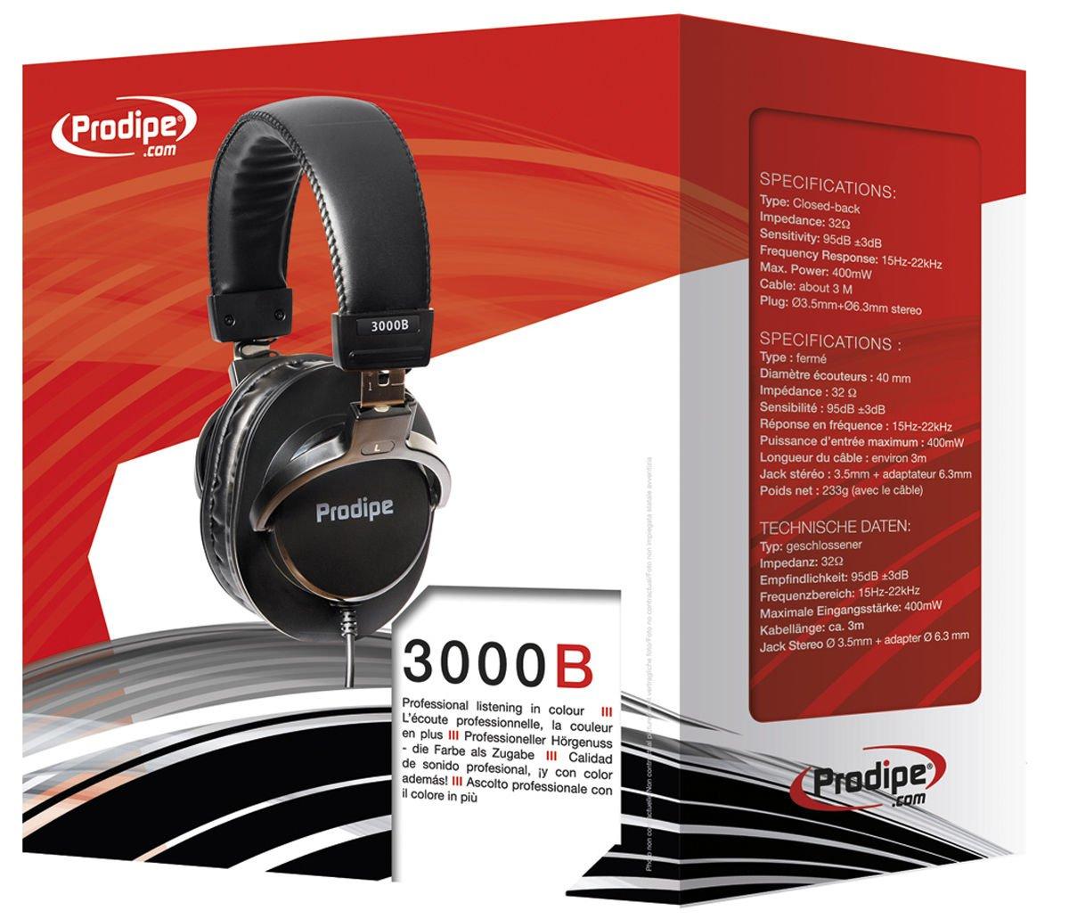 Prodipe 3000B - profesjonalne słuchawki studyjne